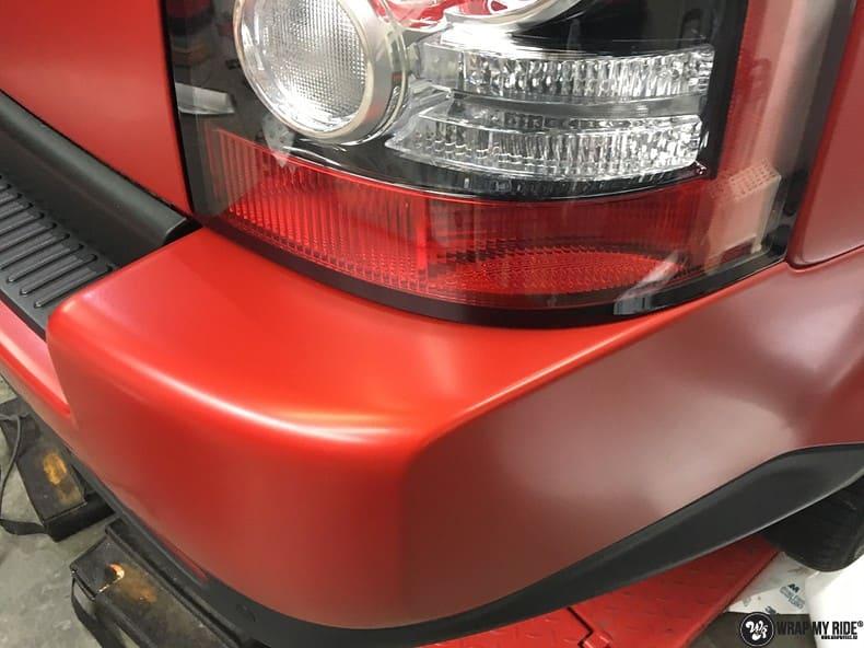 Range Rover Sport in Smoldering Satin Red, Carwrapping door Wrapmyride.nu Foto-nr:10325, ©2021