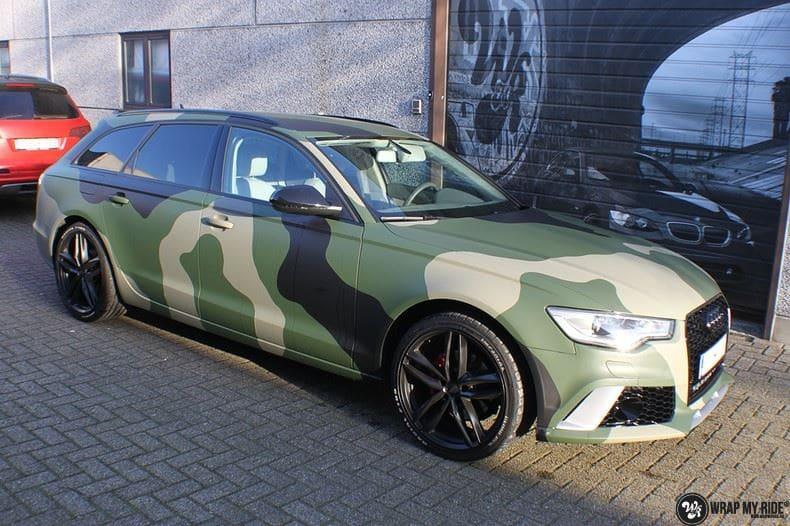 Audi A6 Camo style, Carwrapping door Wrapmyride.nu Foto-nr:9690, ©2021
