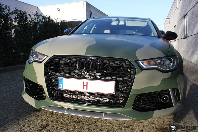 Audi A6 Camo style, Carwrapping door Wrapmyride.nu Foto-nr:9684, ©2021