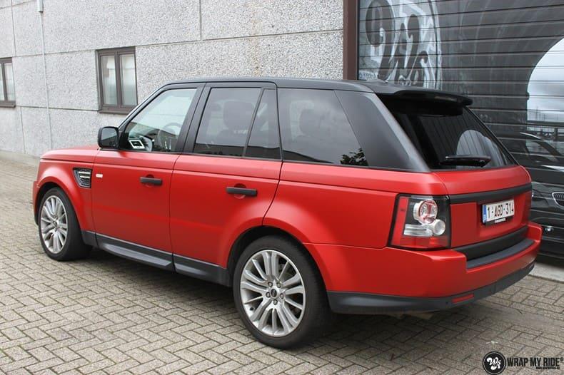 Range Rover Sport in Smoldering Satin Red, Carwrapping door Wrapmyride.nu Foto-nr:10315, ©2021