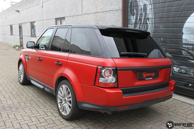Range Rover Sport in Smoldering Satin Red, Carwrapping door Wrapmyride.nu Foto-nr:10314, ©2021