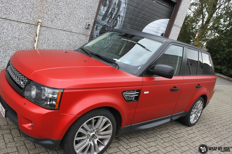 Range Rover Sport in Smoldering Satin Red, Carwrapping door Wrapmyride.nu Foto-nr:10313, ©2021