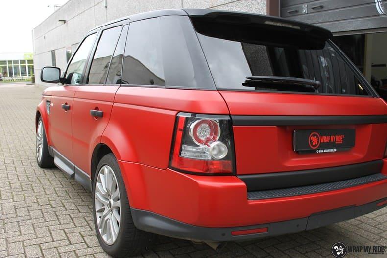 Range Rover Sport in Smoldering Satin Red, Carwrapping door Wrapmyride.nu Foto-nr:10310, ©2021