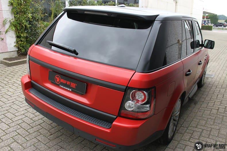 Range Rover Sport in Smoldering Satin Red, Carwrapping door Wrapmyride.nu Foto-nr:10309, ©2021