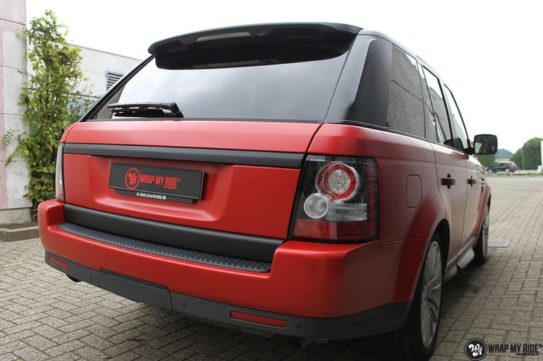 Range Rover Sport in Smoldering Satin Red, Carwrapping door Wrapmyride.nu Foto-nr:10308, ©2021