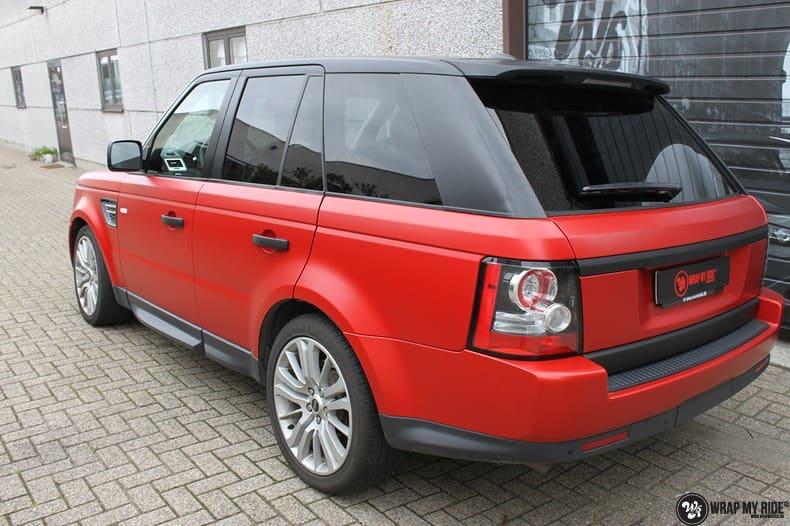 Range Rover Sport in Smoldering Satin Red, Carwrapping door Wrapmyride.nu Foto-nr:10305, ©2021