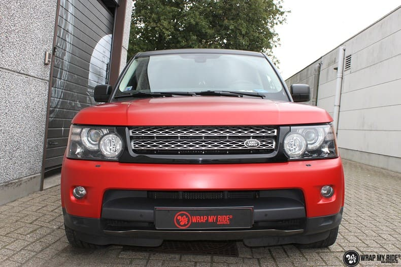 Range Rover Sport in Smoldering Satin Red, Carwrapping door Wrapmyride.nu Foto-nr:10304, ©2021