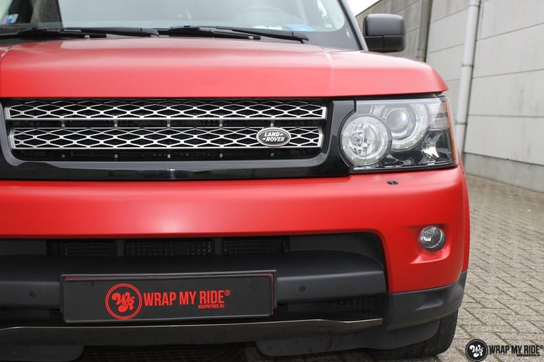 Range Rover Sport in Smoldering Satin Red, Carwrapping door Wrapmyride.nu Foto-nr:10303, ©2021