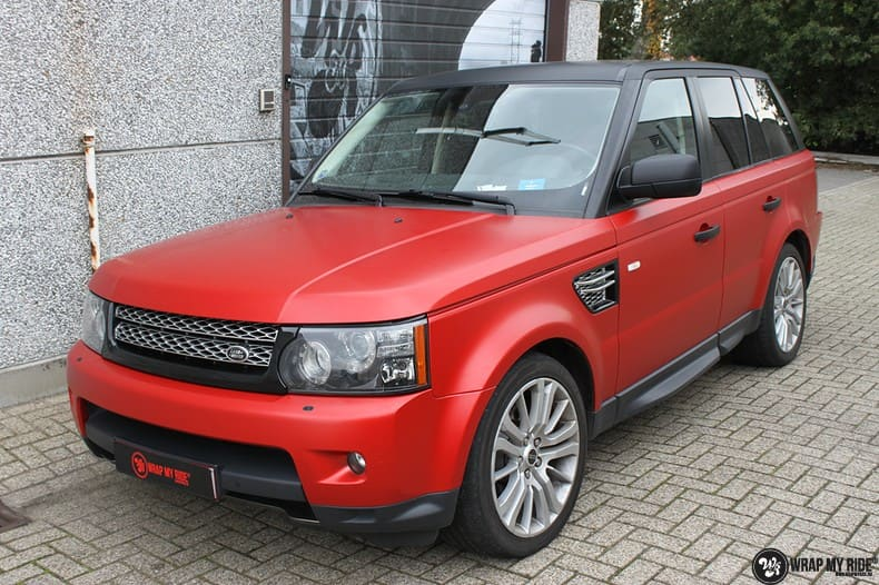 Range Rover Sport in Smoldering Satin Red, Carwrapping door Wrapmyride.nu Foto-nr:10302, ©2021