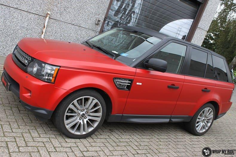 Range Rover Sport in Smoldering Satin Red, Carwrapping door Wrapmyride.nu Foto-nr:10301, ©2021