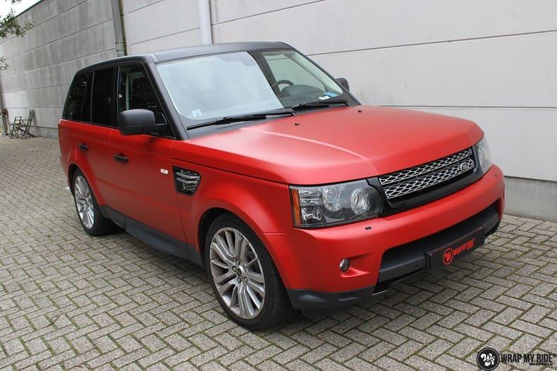 Range Rover Sport in Smoldering Satin Red, Carwrapping door Wrapmyride.nu Foto-nr:10300, ©2021