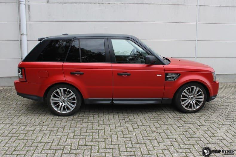 Range Rover Sport in Smoldering Satin Red, Carwrapping door Wrapmyride.nu Foto-nr:10299, ©2021