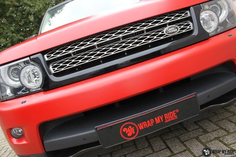 Range Rover Sport in Smoldering Satin Red, Carwrapping door Wrapmyride.nu Foto-nr:10295, ©2021