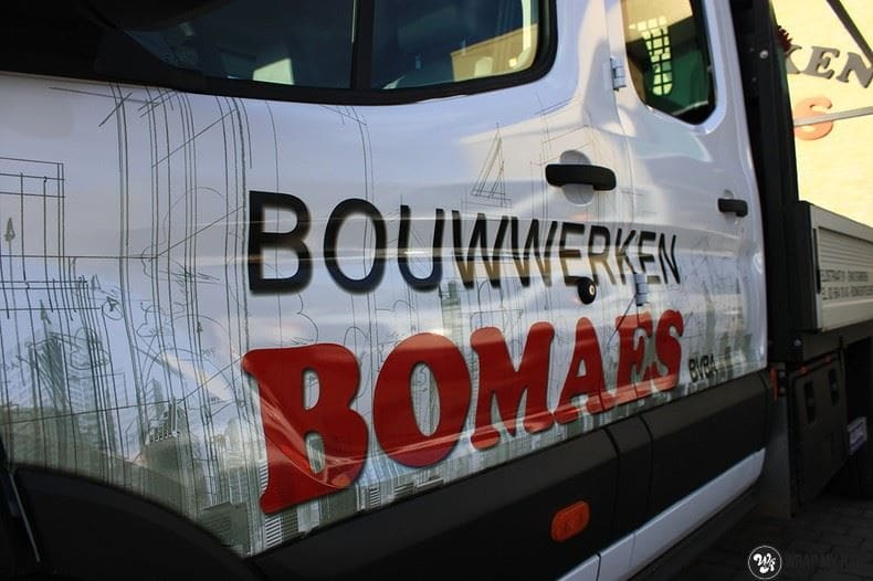 Ford Transit bedrijfswagens voor Bomaes, Carwrapping door Wrapmyride.nu Foto-nr:8670, ©2021