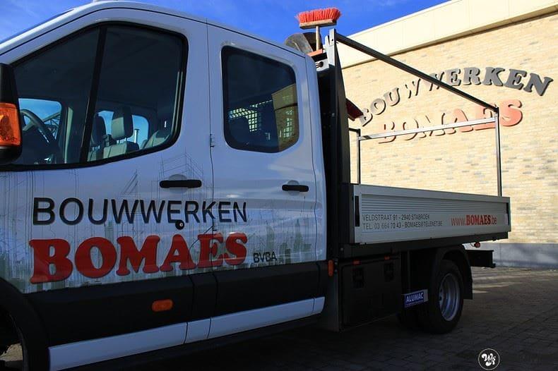 Ford Transit bedrijfswagens voor Bomaes, Carwrapping door Wrapmyride.nu Foto-nr:8668, ©2021