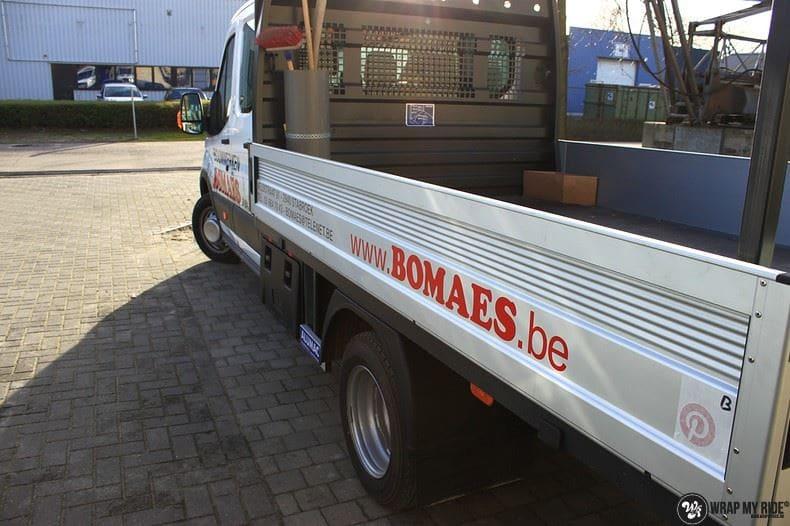 Ford Transit bedrijfswagens voor Bomaes, Carwrapping door Wrapmyride.nu Foto-nr:8667, ©2021
