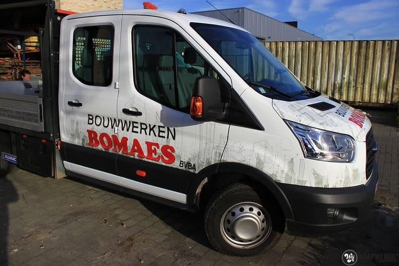 Ford Transit bedrijfswagens voor Bomaes, Carwrapping door Wrapmyride.nu Foto-nr:8665, ©2021