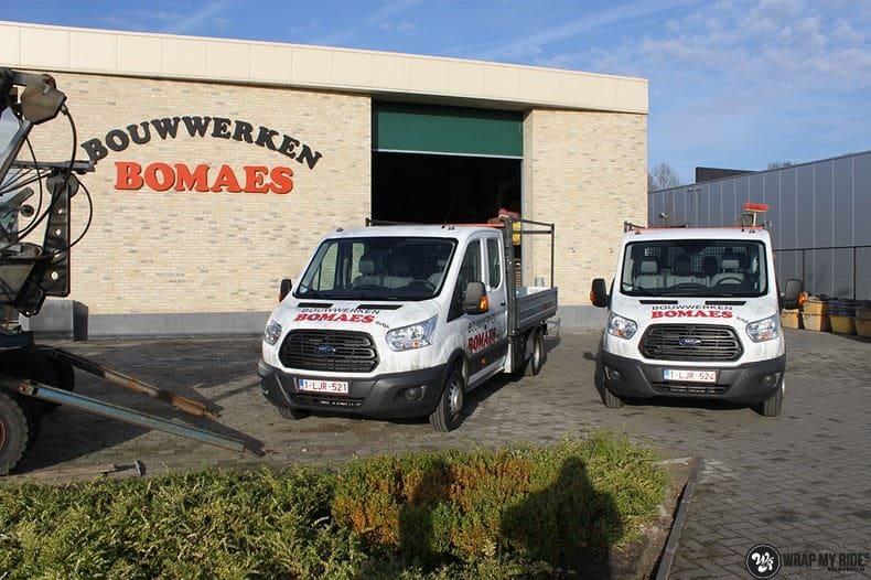 Ford Transit bedrijfswagens voor Bomaes, Carwrapping door Wrapmyride.nu Foto-nr:8661, ©2021