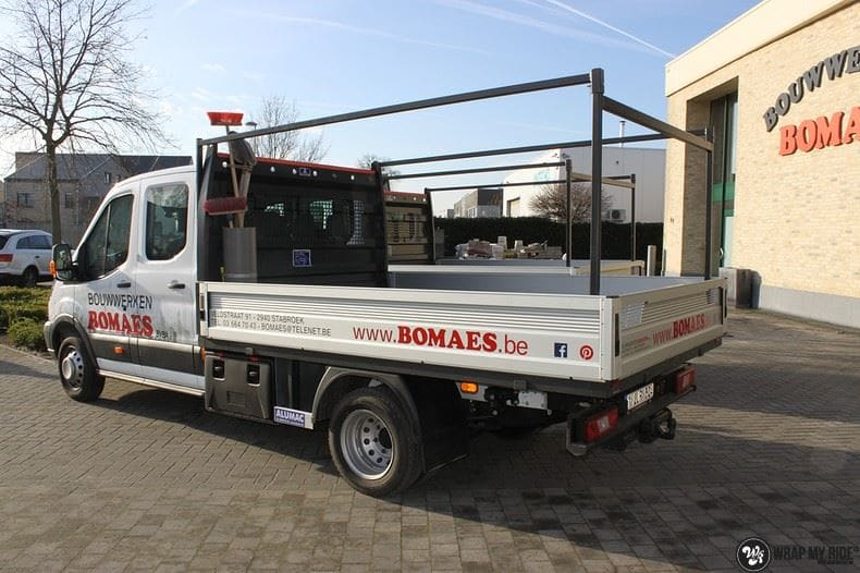 Ford Transit bedrijfswagens voor Bomaes, Carwrapping door Wrapmyride.nu Foto-nr:8658, ©2021