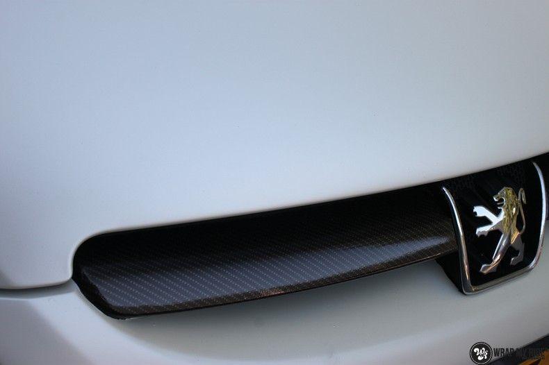 Peugeot 307 3m satin white pearl, Carwrapping door Wrapmyride.nu Foto-nr:11699, ©2021