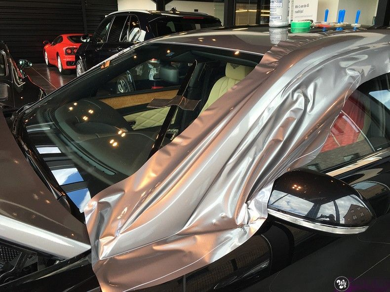 Bentley Flyingspur 2-tone, Carwrapping door Wrapmyride.nu Foto-nr:12454, ©2021