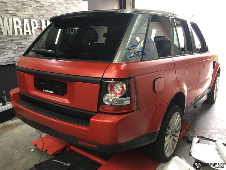 Range Rover Sport in Smoldering Satin Red, Carwrapping door Wrapmyride.nu Foto-nr:10326, ©2021