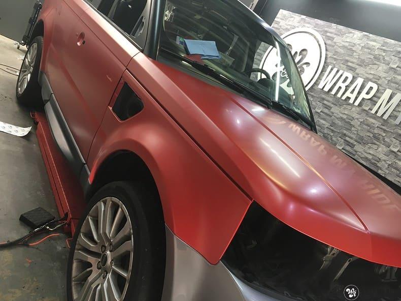 Range Rover Sport in Smoldering Satin Red, Carwrapping door Wrapmyride.nu Foto-nr:10327, ©2021