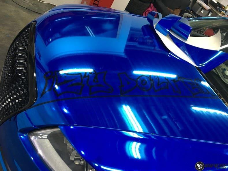 Audi A6 Bleu Chrome, Carwrapping door Wrapmyride.nu Foto-nr:9757, ©2021