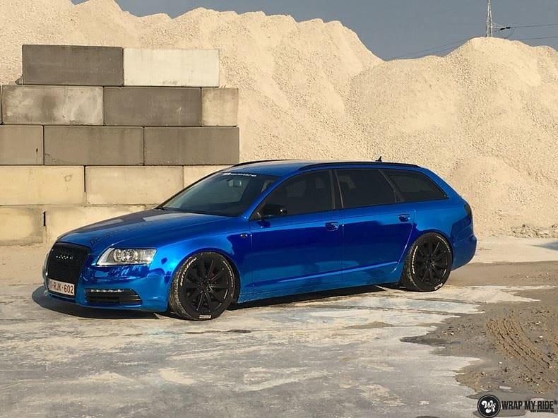 Audi A6 Bleu Chrome, Carwrapping door Wrapmyride.nu Foto-nr:9762, ©2021