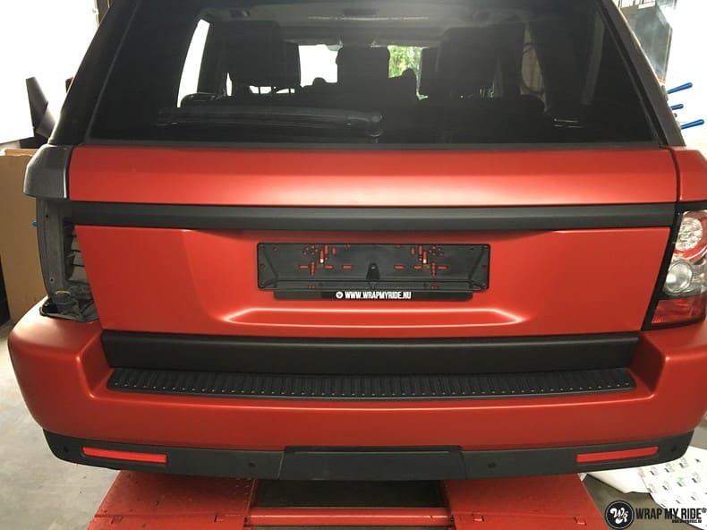 Range Rover Sport in Smoldering Satin Red, Carwrapping door Wrapmyride.nu Foto-nr:10322, ©2021