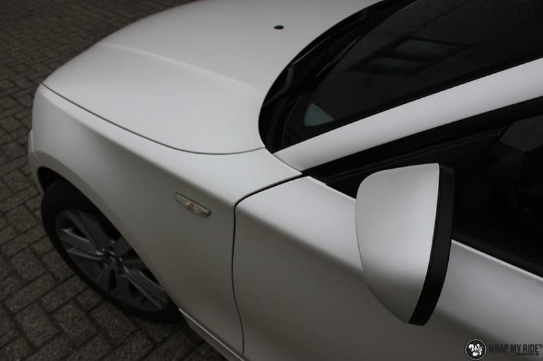BMW 1-serie 3M Satin Pearl White, Carwrapping door Wrapmyride.nu Foto-nr:9049, ©2021