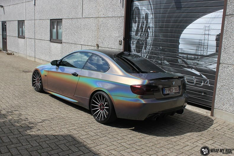 BMW E92 Coupe 3M gloss flip Psycedelic, Carwrapping door Wrapmyride.nu Foto-nr:10251, ©2021
