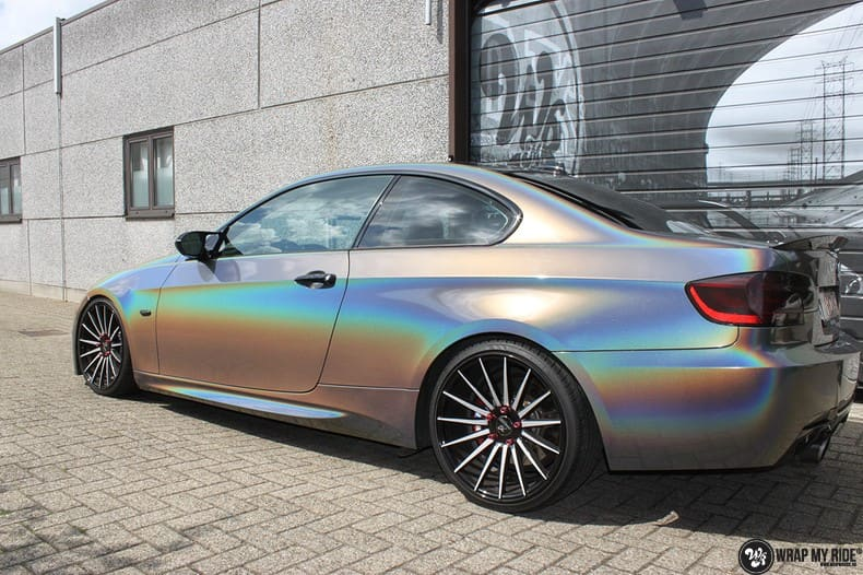 BMW E92 Coupe 3M gloss flip Psycedelic, Carwrapping door Wrapmyride.nu Foto-nr:10250, ©2021