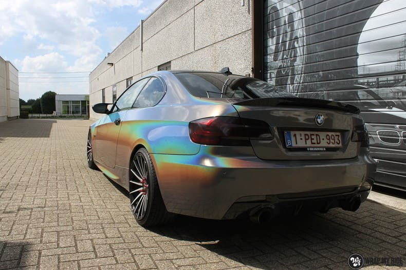 BMW E92 Coupe 3M gloss flip Psycedelic, Carwrapping door Wrapmyride.nu Foto-nr:10249, ©2021