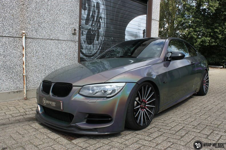BMW E92 Coupe 3M gloss flip Psycedelic, Carwrapping door Wrapmyride.nu Foto-nr:10248, ©2021
