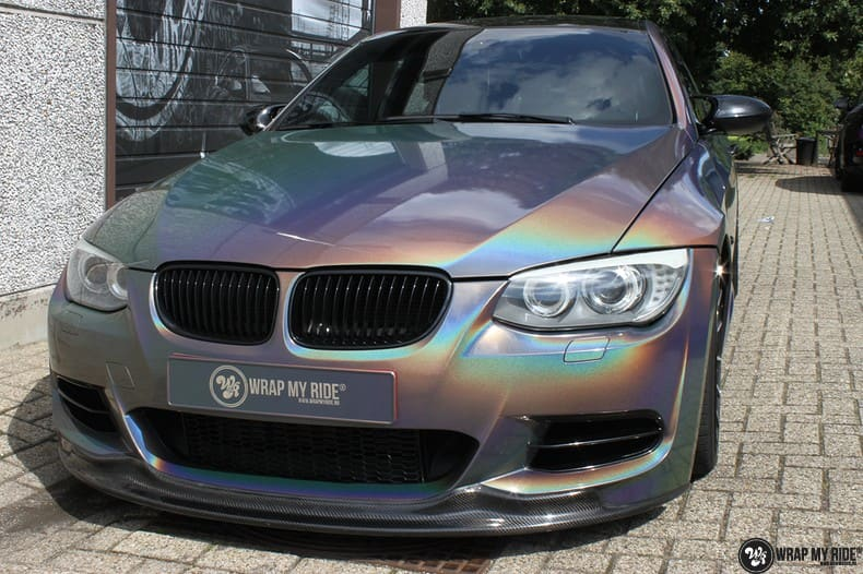 BMW E92 Coupe 3M gloss flip Psycedelic, Carwrapping door Wrapmyride.nu Foto-nr:10246, ©2021