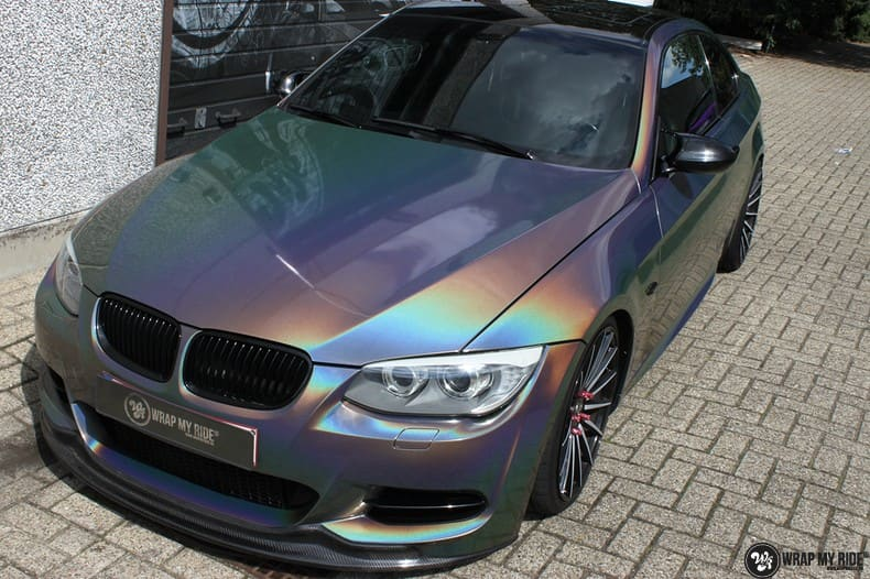 BMW E92 Coupe 3M gloss flip Psycedelic, Carwrapping door Wrapmyride.nu Foto-nr:10245, ©2021