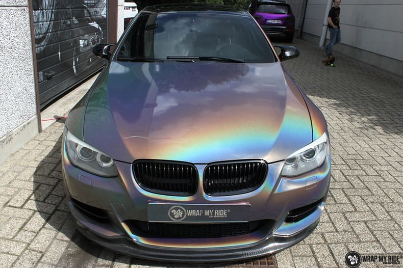 BMW E92 Coupe 3M gloss flip Psycedelic, Carwrapping door Wrapmyride.nu Foto-nr:10244, ©2021