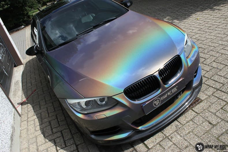 BMW E92 Coupe 3M gloss flip Psycedelic, Carwrapping door Wrapmyride.nu Foto-nr:10243, ©2021