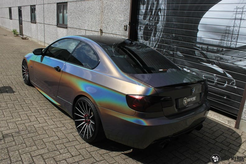 BMW E92 Coupe 3M gloss flip Psycedelic, Carwrapping door Wrapmyride.nu Foto-nr:10242, ©2021