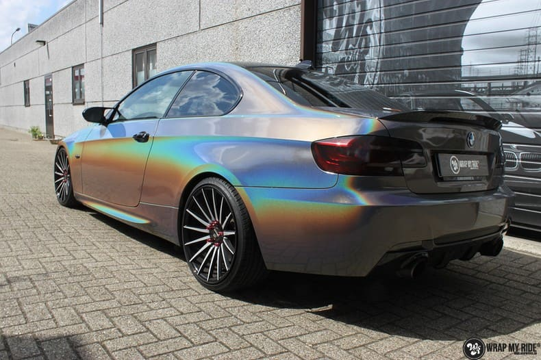 BMW E92 Coupe 3M gloss flip Psycedelic, Carwrapping door Wrapmyride.nu Foto-nr:10241, ©2021