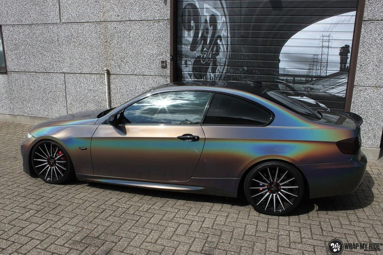 BMW E92 Coupe 3M gloss flip Psycedelic, Carwrapping door Wrapmyride.nu Foto-nr:10240, ©2021