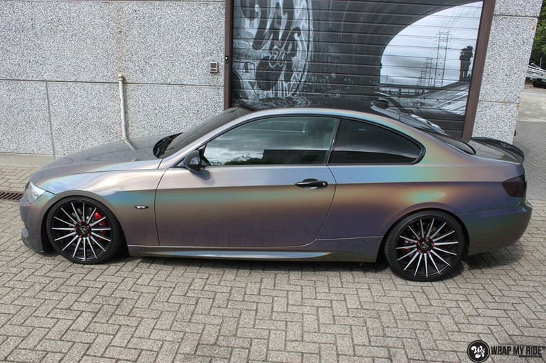BMW E92 Coupe 3M gloss flip Psycedelic, Carwrapping door Wrapmyride.nu Foto-nr:10239, ©2021