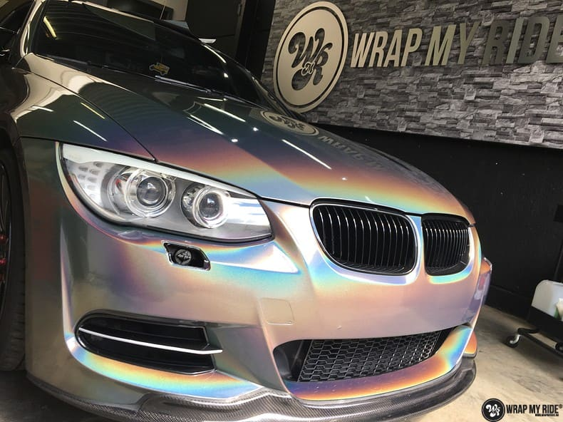 BMW E92 Coupe 3M gloss flip Psycedelic, Carwrapping door Wrapmyride.nu Foto-nr:10260, ©2021