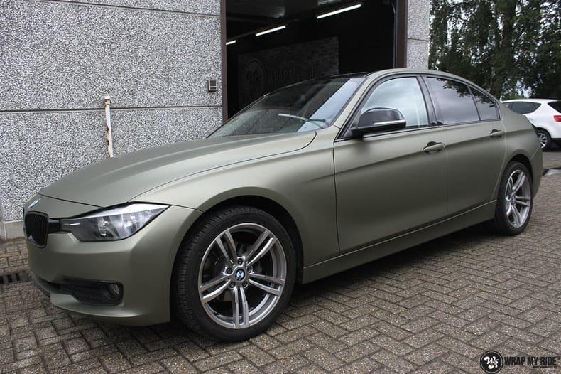 BMW F30 Matte Midnight Sand, Carwrapping door Wrapmyride.nu Foto-nr:9034, ©2021