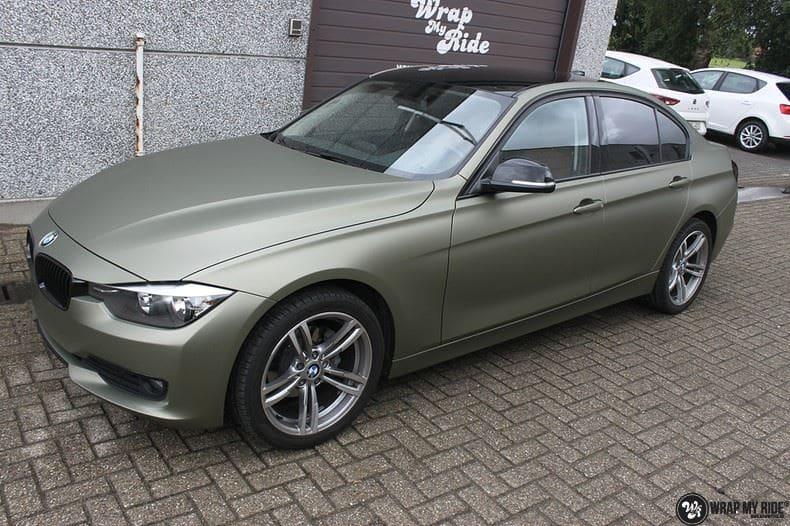BMW F30 Matte Midnight Sand, Carwrapping door Wrapmyride.nu Foto-nr:9023, ©2021