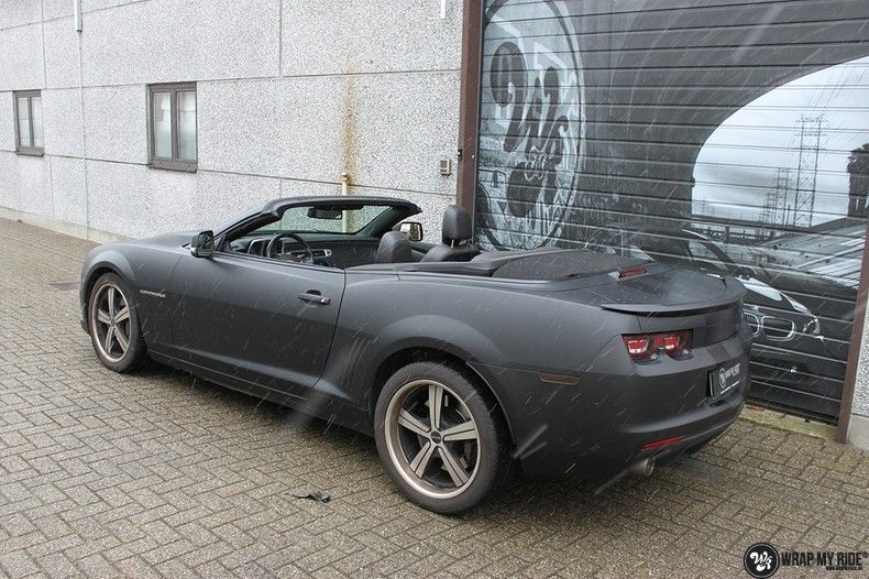 Chevrolet Camaro Matte Deep Black, Carwrapping door Wrapmyride.nu Foto-nr:10767, ©2021