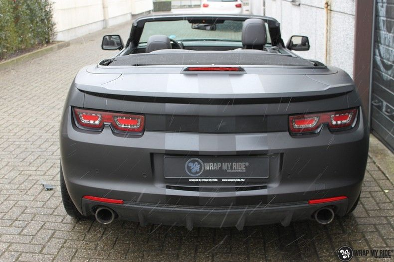 Chevrolet Camaro Matte Deep Black, Carwrapping door Wrapmyride.nu Foto-nr:10766, ©2021