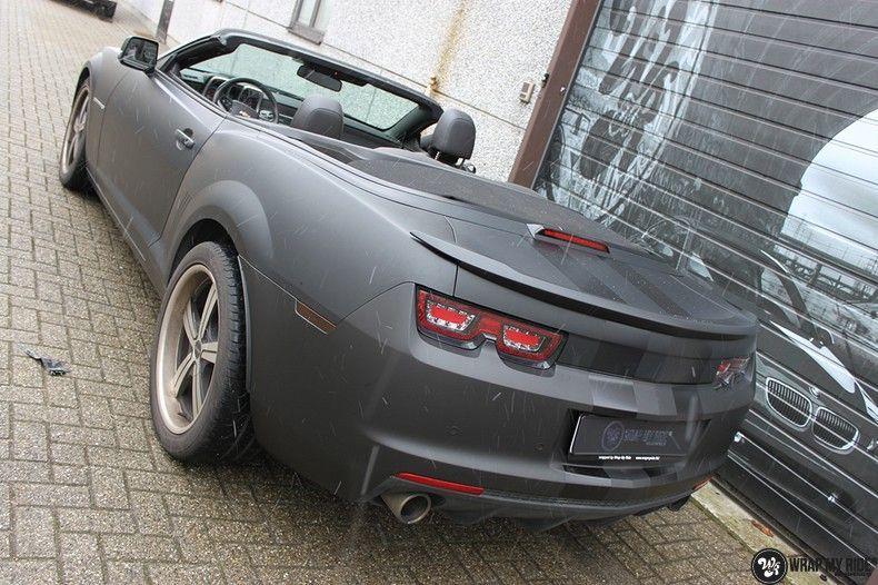Chevrolet Camaro Matte Deep Black, Carwrapping door Wrapmyride.nu Foto-nr:10765, ©2021