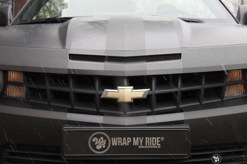 Chevrolet Camaro Matte Deep Black, Carwrapping door Wrapmyride.nu Foto-nr:10761, ©2021